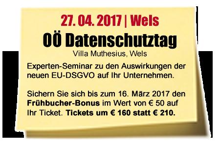 Experten-Seminar OÖ Datenschutztag / 27.04.2017